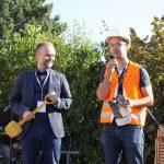 Silvio Witt übernahm die Schirmherrschaft der Baustellenparty