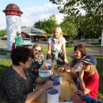 Das Mehrgenerationenhaus bot Basteln für Kinder an - Stadtteilfest 2015